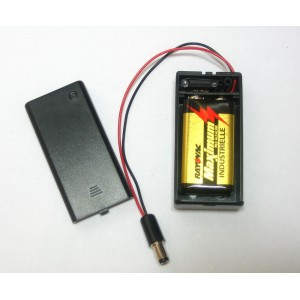9V Battery Holder with Switch & 5.5mm / 2.1mm Plug
