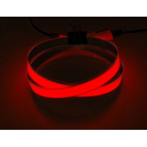 Red Electroluminescent (EL) Tape Strip - 100cm w/two connectors