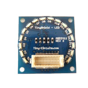 TinyShield 16 Edge LEDs - AMBER