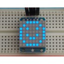 Adafruit Mini 8x8 LED Matrix w/I2C Backpack - Blue -