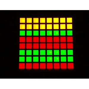 "Small 1.2"" 8x8 Bi-Color (Red/Green) Square LED Matrix - BL-M12A883DUG-11"