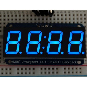 "Adafruit 0.56"" 4-Digit 7-Segment Display w/I2C Backpack - Blue -"