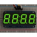 "Adafruit 0.56"" 4-Digit 7-Segment Display w/I2C Backpack - Green -"