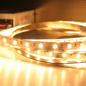 Non Waterproof Flexible LED strip - 5050 LED - 60 LED - Warm White